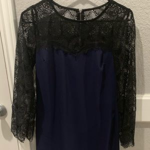 Navy blue and black dress